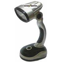 Mini Desk Lamp 12 LED Table AA Battery Operated Study Adjustable Head Light