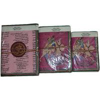 Handmade Paper Bound Journal Traveler Note Sketchbook Camel Pink Color Set Of 3