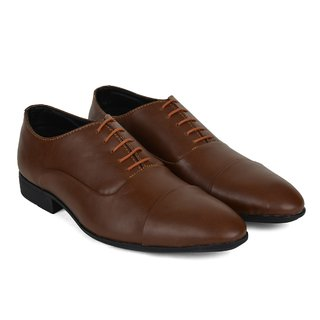 Ziraffe FAMOS Tan Leather Formal Shoes