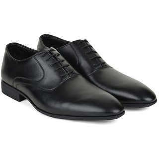 Ziraffe NATA Black Leather Formal Shoes