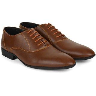 Ziraffe CARACAS Tan Leather Formal Shoes