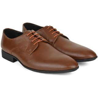 Ziraffe BOGOTA Tan Leather Formal Shoes