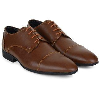 Ziraffe WURTH Tan Leather Formal Shoes