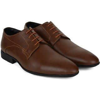 Ziraffe HOBART Tan Leather Formal Shoes