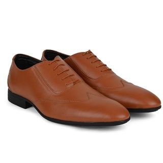 Ziraffe GUSTO Tan MenS Leather Formal Shoes