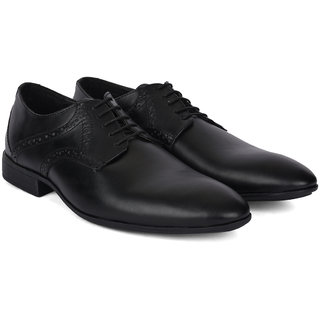 Ziraffe POLAR Black Leather Formal Shoes