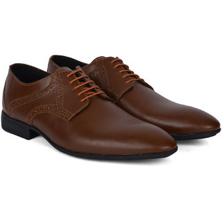 Ziraffe POLAR Tan Leather Formal Shoes