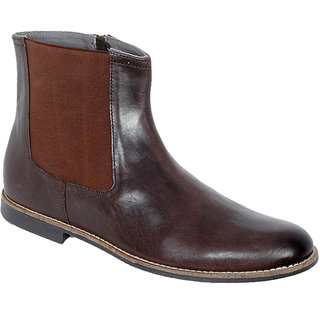 Delize Mens Brown Ankle Boots