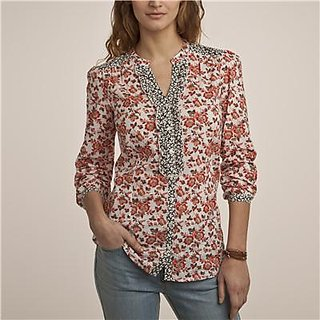 Shoppertree Smart Floral Printed Full Sleeve Top (ST-954)