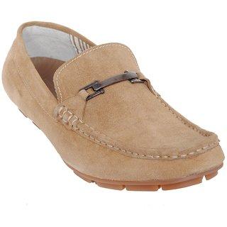 Delize Classy Men's Tan Loafer Shoes