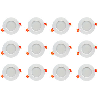 Bene LED 6w Farol Round Ceiling Light Color of LED White (Pack of 12 Pcs)