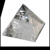 Crystal Quartz Pyramid 1""