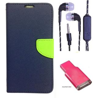 Micromax Canvas Selfie 3 Q348  Credit Card Slots Mercury Diary Wallet Flip Cover Case
