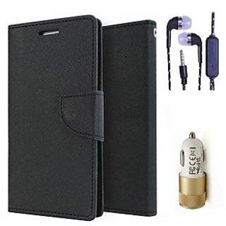 InFocus M2  Credit Card Slots Mercury Diary Wallet Flip Cover Case