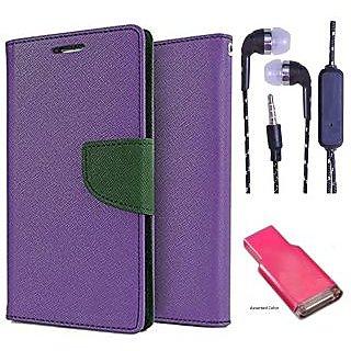 Samsung Galaxy E5  Credit Card Slots Mercury Diary Wallet Flip Cover Case