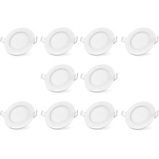 Bene LED 12w Round Panel Ceiling Light Color of LED White (Pack of 10 Pcs)