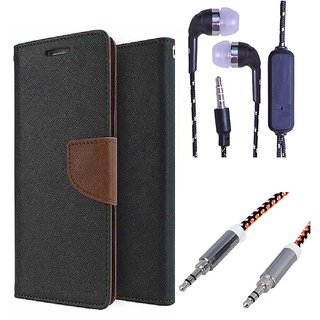 Sony Xperia L S36H  Credit Card Slots Mercury Diary Wallet Flip Cover Case