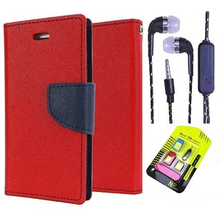 Lenovo A5000  Credit Card Slots Mercury Diary Wallet Flip Cover Case