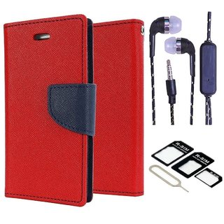 Micromax Canvas Blaze 4G Q400  Credit Card Slots Mercury Diary Wallet Flip Cover Case