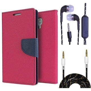 Micromax Canvas Colours A120  Credit Card Slots Mercury Diary Wallet Flip Cover Case