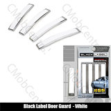 Black Label Car Door Scratch Guard  - White