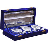 Rangsthali Posh Brass Fruit Bowl Silver Plated Set Of 7 Pcs # RBSS00030