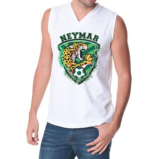 6th Cross Neymar The Killer V Neck Sleeveless (White)