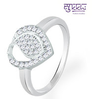 Sukkhi Modern and Attractive Rhodium Plated CZ Ring