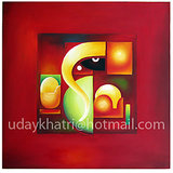 Creative Ganesha Oil Painting On Canvas Buy From Original Artisite, Uday Khatri