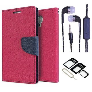 NEW FANCY DIARY FLIP CASE BACK COVER FOR Micromax Canvas DOODLE A111