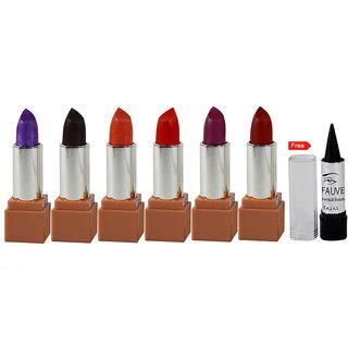 U3Q 24H Moisturized Lipstick Pack of 6 Free Kajal-PHSU-B2