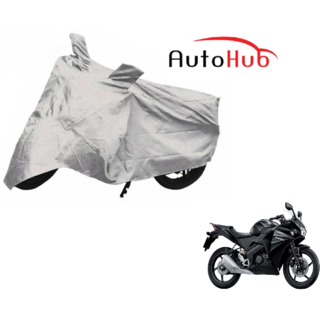 Auto Hub 100 Water Resistant Silver Two Wheeler Body Cover For Honda CBR 150R - By AS Traders