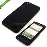 Black Slim Hard Back Cover Case Pouch Skin Fit For HTC One V