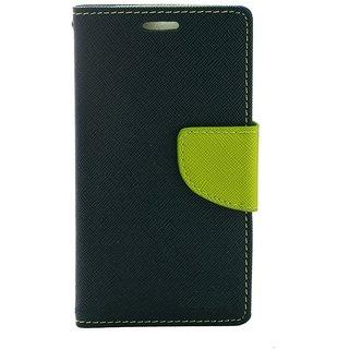 Fancy Artificial Leather Flip Cover For Moto E 2  (Blue)