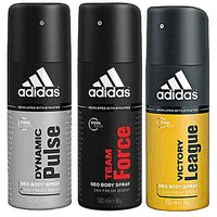 Adidas Dynamic Pulse, Team Force & Victory League Deodorant For Men-150ml Each