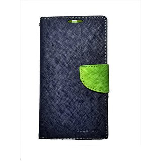 FANCY WALLET DIARY WITH STAND VIEW FLIP COVER For  Reliance Lyf Water 7  (Blue)