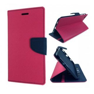 New Mercury Goospery Fancy Diary Wallet Flip Case Back Cover for  Micromax Canvas 2.2 A114  (Pink)