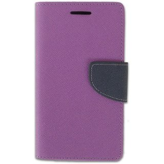 FANCY WALLET DIARY WITH STAND VIEW FLIP COVER For  Micromax Canvas DOODLE A111  (Purple)