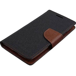 New Mercury Goospery Fancy Diary Wallet Flip Case Back Cover for  Samsung Galaxy J1 Ace  (Brown)
