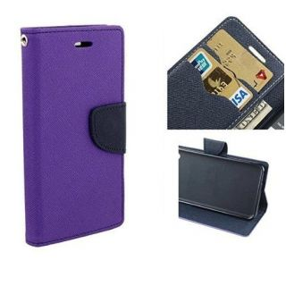 New Mercury Goospery Fancy Diary Wallet Flip Case Back Cover for  Samsung Galaxy On7 (PURPLE)
