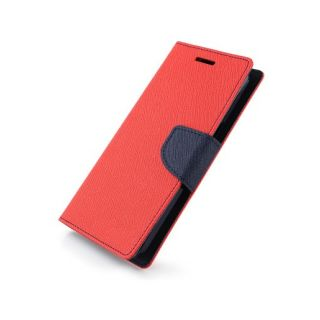 New Mercury Goospery Fancy Diary Wallet Flip Case Back Cover for  Samsung Galaxy On7 (RED)
