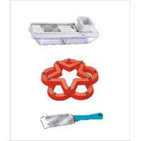 Ritu Set Of Hot Mat-Cheese Cutter-Dry Fruit & Vegetable Slicer 2 In 1