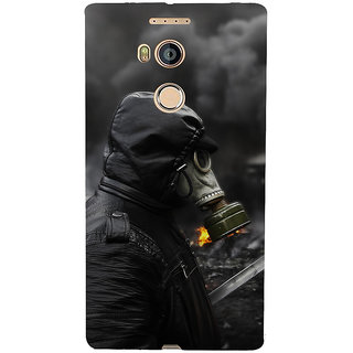 3D Designer Back Cover for Gionee Elife E8 :: Man in Black in Fire  ::  Gionee Elife E8 Designer Hard Plastic Case (Eagle-120)