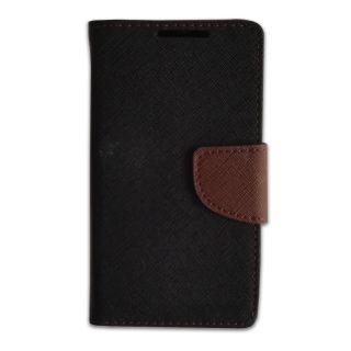 New Mercury Goospery Fancy Diary Wallet Flip Case Back Cover for  Reliance Lyf Wind 4 (BROWN)