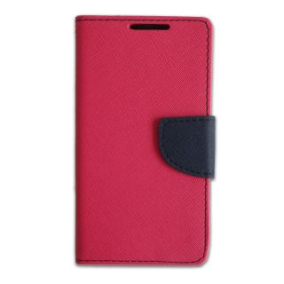 New Mercury Goospery Fancy Diary Wallet Flip Case Back Cover for  Micromax Bolt Q333  (PINK)