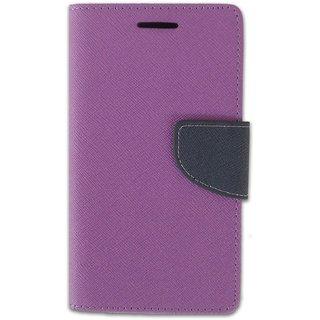 New Mercury Goospery Fancy Diary Wallet Flip Case Back Cover for  Apple iPhone 5 (PURPLE)