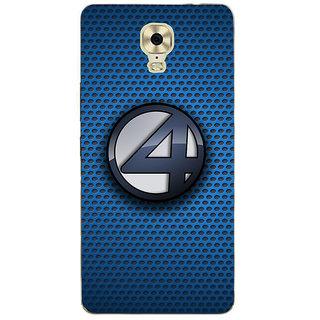 3D Designer Back Cover for Gionee Marathon M6 Plus :: Patterns with Four Logo  ::  Gionee Marathon M6 Plus Designer Hard Plastic Case (Eagle-197)