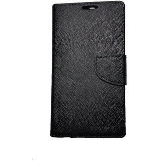 New Mercury Goospery Fancy Diary Wallet Flip Case Back Cover for  Reliance Lyf Wind 1 (BLACK)
