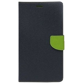 New Mercury Goospery Fancy Diary Wallet Flip Case Back Cover for  Reliance Lyf Wind 6  (Blue)