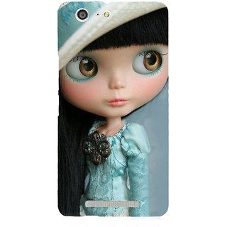 3D Designer Back Cover for Gionee Marathon M5 :: Cartoon Girl in Designer Dress  ::  Gionee Marathon M5 Designer Hard Plastic Case (Eagle-035)